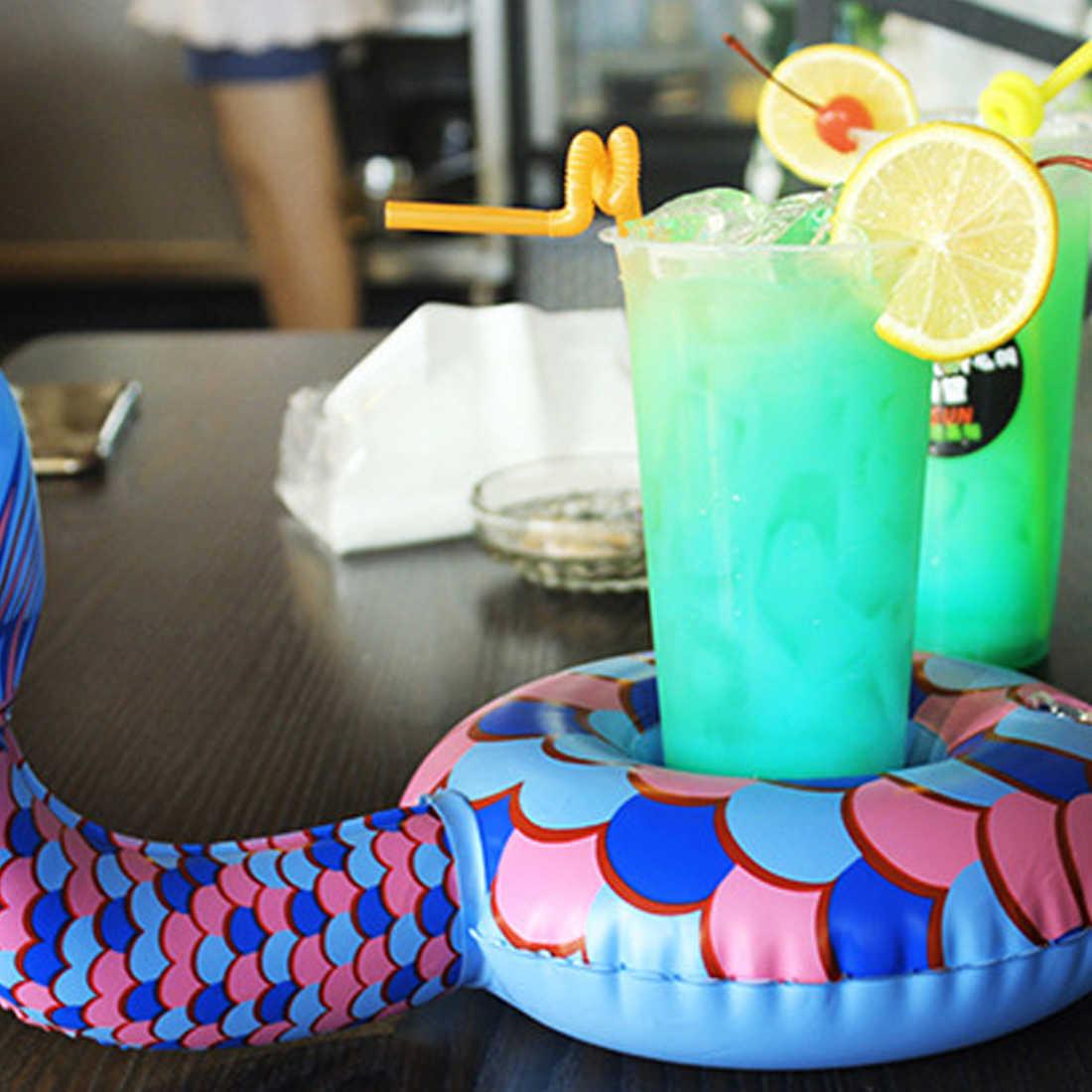 Seksi Baru Dapat Diisi Angin Zwembad Meja Bar Baki Kolam Renang Mengapung Cangkir Minuman Bir Penahan Kolam Renang Musim Panas Mainan Aksesoris Pantai