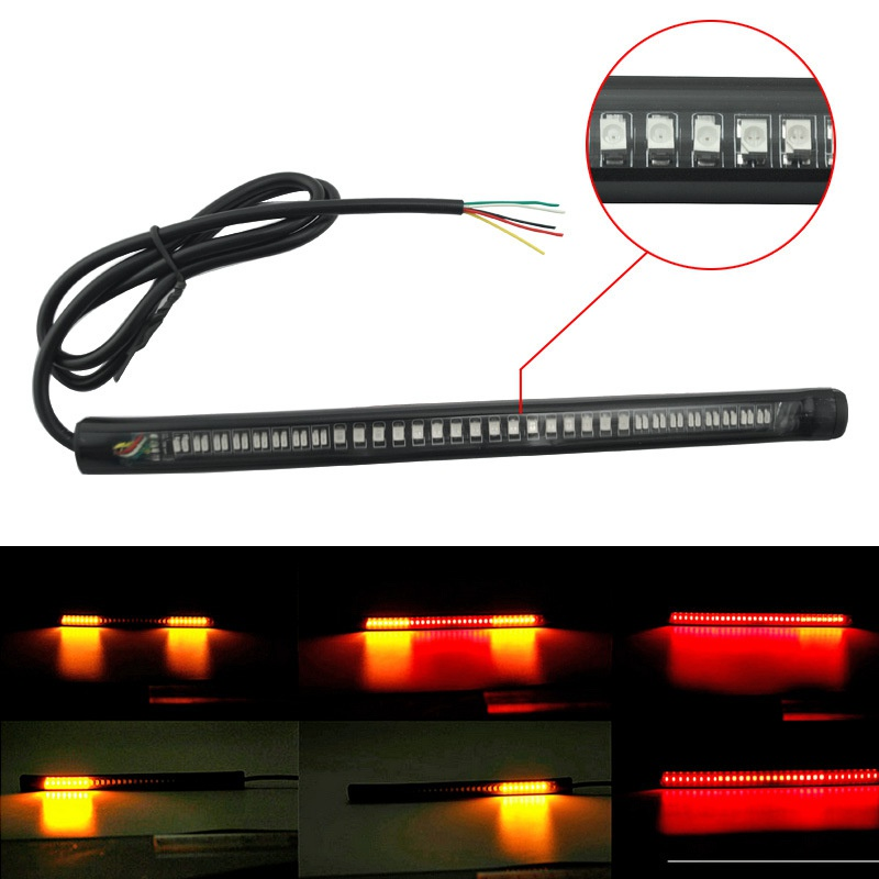 48 LED Light Bar Strip Tail Brake Stop Turn Signal License Plate Light Integrated 3528 SMD