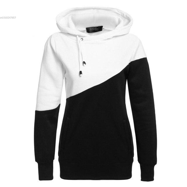 diseño innovador cc8c7 1795b € 1.23 |Aliexpress.com: Comprar Moda mujer casual Sudaderas manga larga  para mujer sudadera otoño Sudaderas contraste color de sweatshirt for woman  ...
