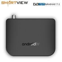 DVB T2/T S/S2 Terrestrischen Android 7.1 TV Box Combo Amlogic S905D Quad Core 64 bit 1 GB/8 GB Unterstützung 1080p 4K 30fps M8S PLUS DVB