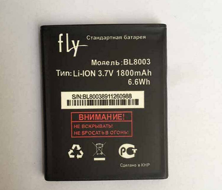 High Quality For FLY BL8003 New Mobile Phone Lithium Original BL 8003 1800mAh Battery Replacement Parts