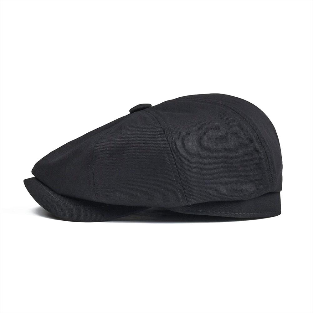BOTVELA Newsboy Cap Men 39 s Twill Cotton Eight Panel Hat Women 39 s Baker Boy Caps Retro Big Large Hats Male Boina Black Beret 003 in Men 39 s Newsboy Caps from Apparel Accessories
