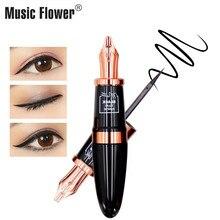 Music Flower Very fine Matte Eye Liner Pencil Waterproof Makeup Black Liquid Eyeliner PenQuick-dry Easy To Wear 24H Long-lasting