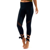 2017 Black Lace Up Leggings Pants Workout Clothes For Women Fashion Leggings High Waist Womens Pink