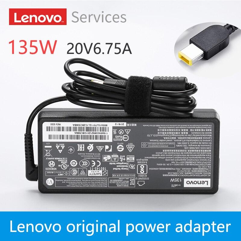 Новый оригинальный lenovo Y50 Y50 70 Y50 80 Y700 T440P T540P W540 20V 6.75A 135W Ноутбук питания Мощность адаптер переменного тока Зарядное устройство ADL135NLC3A