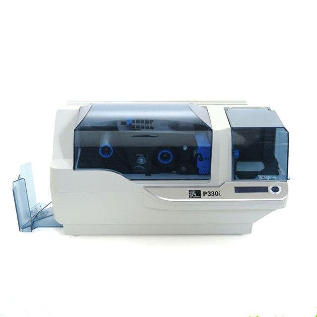 Зебра P330i Одноместный ПВХ ID карт принтер с одного рулона ленты как подарок (использование 800015-440cn ленты)
