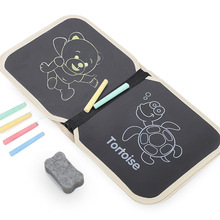 лучшая цена Portable Soft Board Drawing Book Blackboard Picture Album  Children Chalk Painting Pack Writing Sketchpad Children Drawing Toys