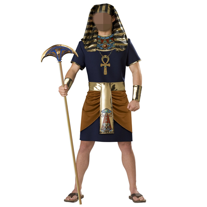 <font><b>Halloween</b></font> Exotic Adult <font><b>Sexy</b></font> <font><b>Men</b></font> Egyptian Style Suit Cool Cosplay Costume for Stage Performance Masquerade Party Costume image
