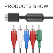 1pcs NEW Arrival HD Component AV Video-Audio Cable Cord For PS2 PS3 Slim Component TV AV Video-Audio Cable Cord Free Shipping