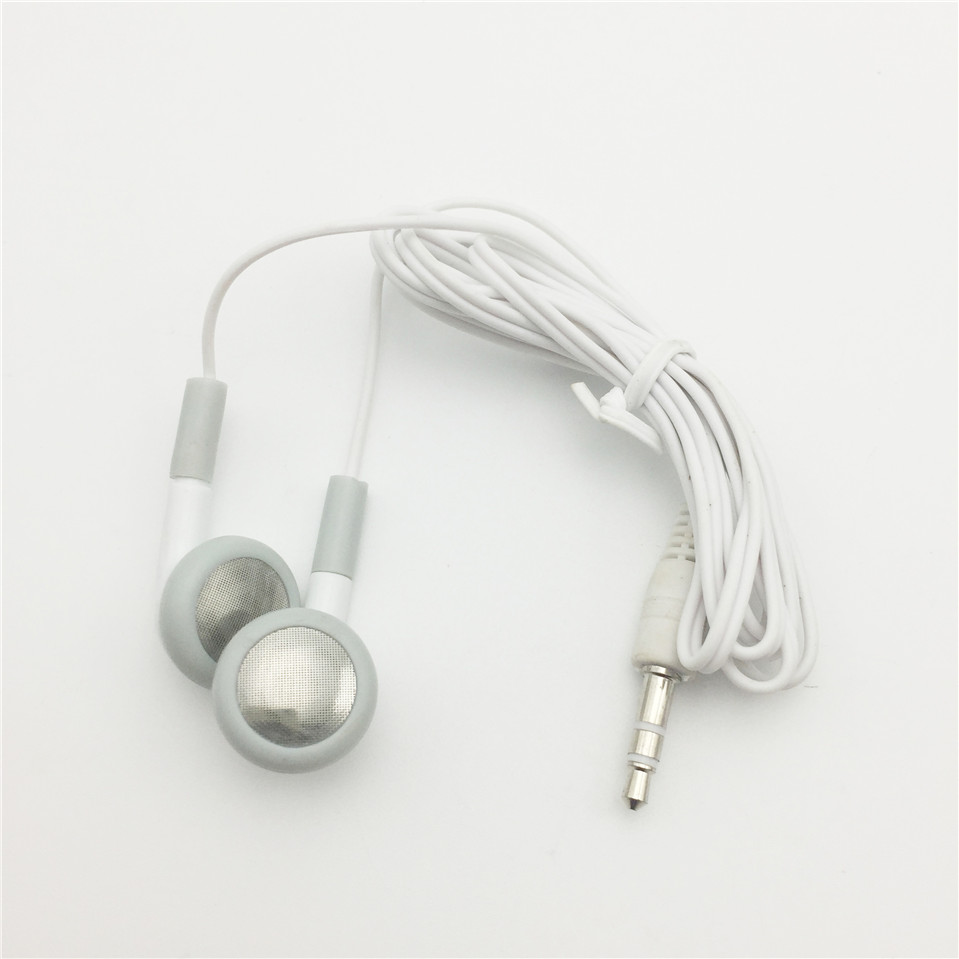White Earphones Headphones for Apple iPod iPhone 3G 3GS 4 4G 4S 5s 6s 3.5mm Headphone mini microphone for iphone 3g ipod nano 4g ipod touch 2g ipod classic 120 3 5mm jack white