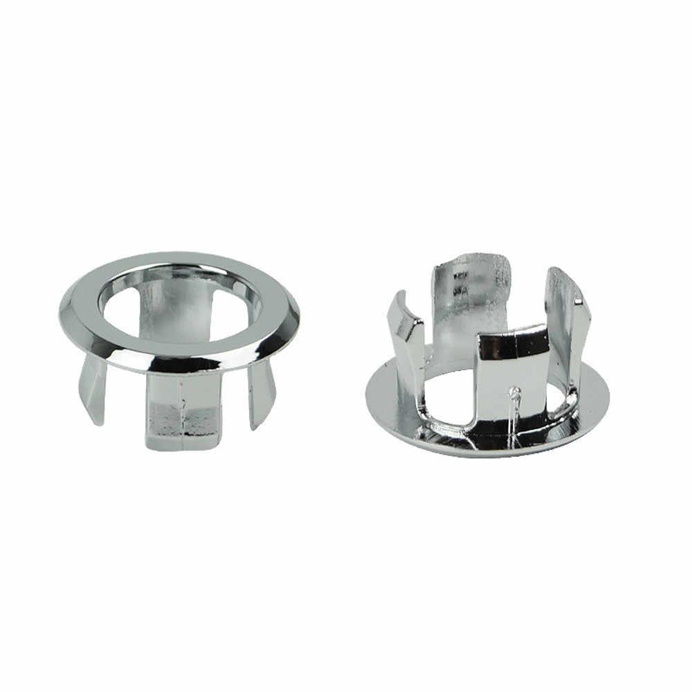 Hoge Kwaliteit 1 Pc Zinken Ronde Ring Overloop Spare Cover Tidy Chrome Trim Badkamer Keramische Wastafel Overloop Ring Сифон G529