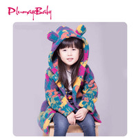 2018 Children Clothing Kids Girl Colorful Velvet Coat Baby Hoodies Thicken Baby Girls Jacket Autumn And Winter Age for 3-14 Yrs
