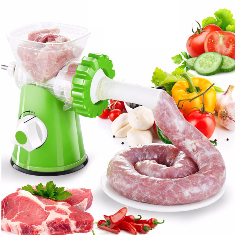 LUCOG Multifunctional Kitchen Manual Meat Grinder 3-In-1 Homemake Sausage Machine Pasta Maker Vegetable Grinder Mincer LUCOG Multifunctional Kitchen Manual Meat Grinder 3-In-1 Homemake Sausage Machine Pasta Maker Vegetable Grinder Mincer