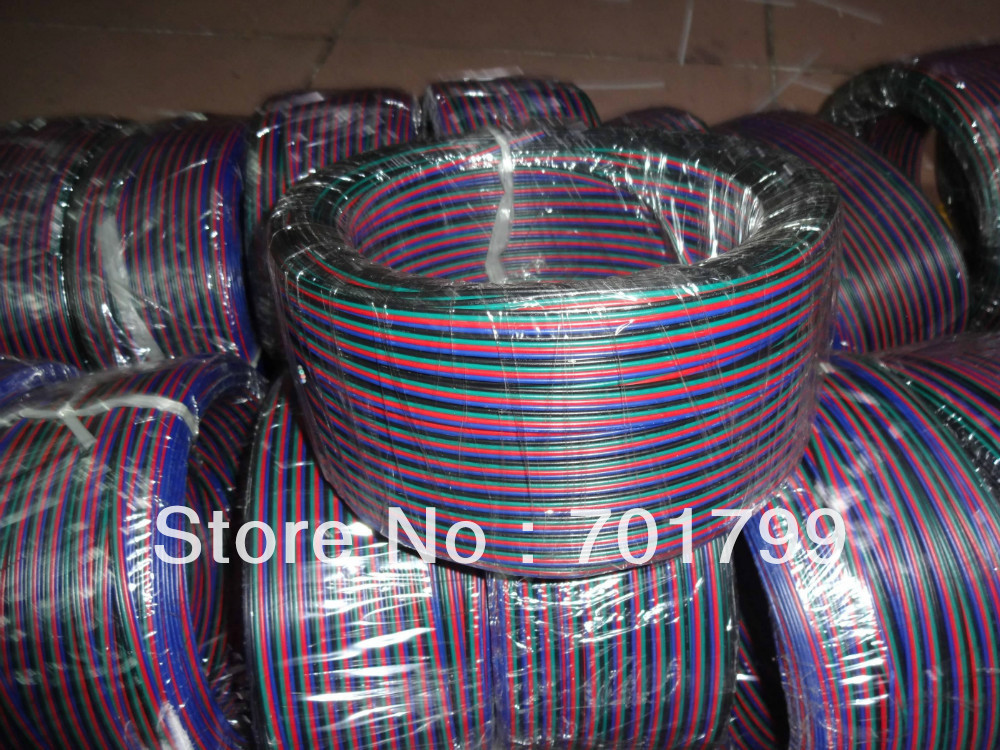 100m lot 4pin RGB 20AWG cable for led pixel module LED strip etc