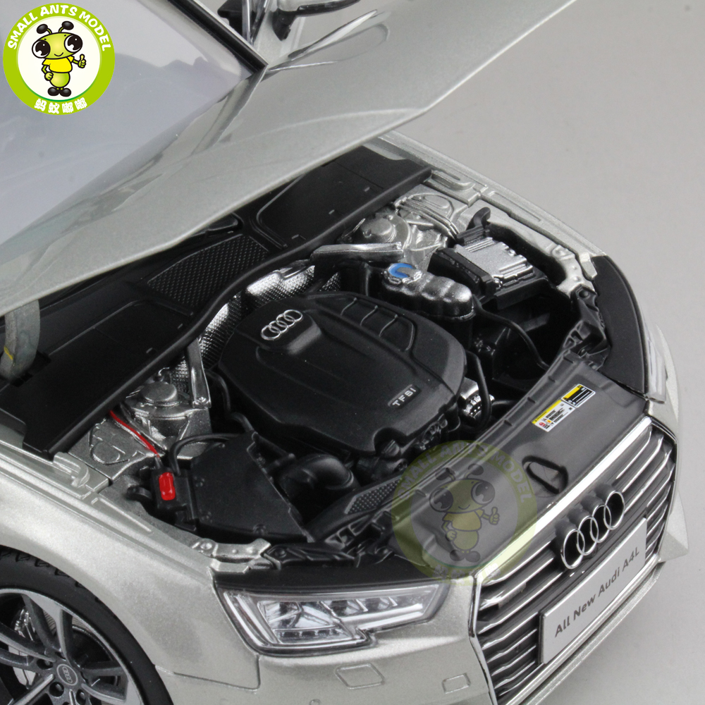 1/18 Audi A4L A4 Diecast Metal Car Model Toy Girl Kids Boy Gift Collection Silver