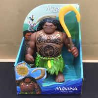 Moana Und Maui Aktion Spielzeug Figuren Küken Heihei Spotted Action-figuren Spielzeug Mit Licht und Musik Modell Vinyl Puppe Für mädchen Kinder