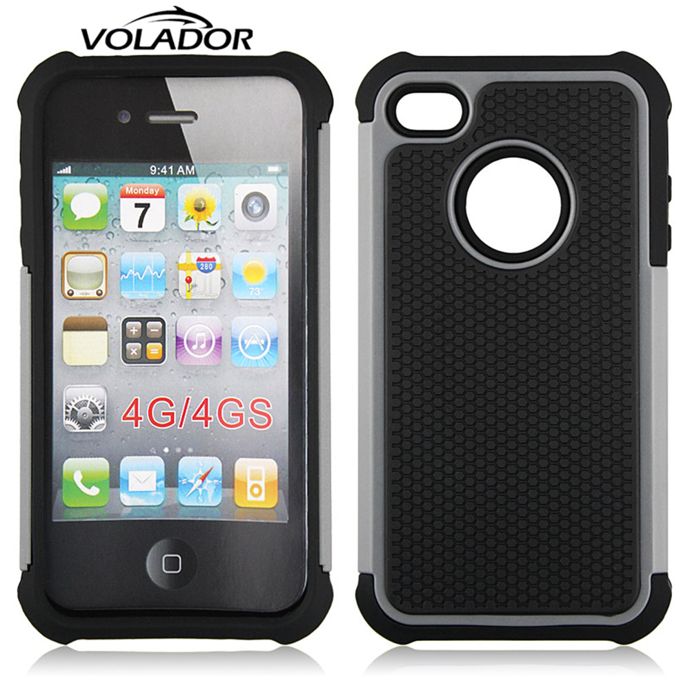 Para el Caso Iphone4, VOLADOR Absorbente A Prueba de Golpes Cubierta del teléfon