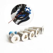 5PCS Bicycle transmission guide wheel screw Mountain bike screws gear fixing 304 stainless steel