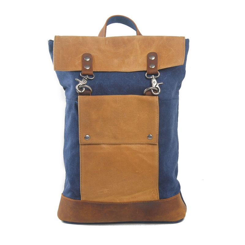 ФОТО new Canvas leather big size long Europe student America Retro fashion school book computer college laptop travel backpack bags