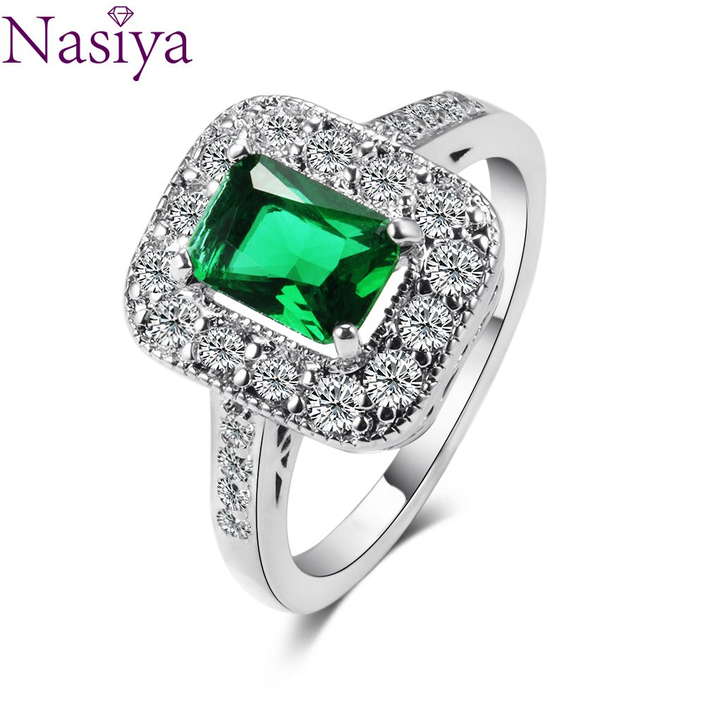 New Style Emerald Ring 925 Sterling Silver Jewelry Ring For Women Birthday Anniversary Party Gift Size 6,7,8,9,10 Wholesale