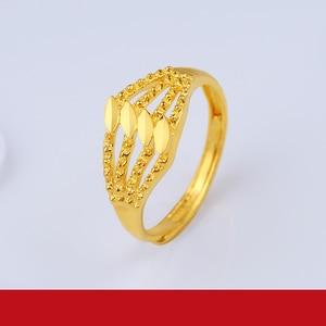 Image 2 - Jlzb 24 18k 純金リングリアル au 999 純金指輪エレガントなシャイニービュ高級流行の古典的なジュエリーホット販売新 2020