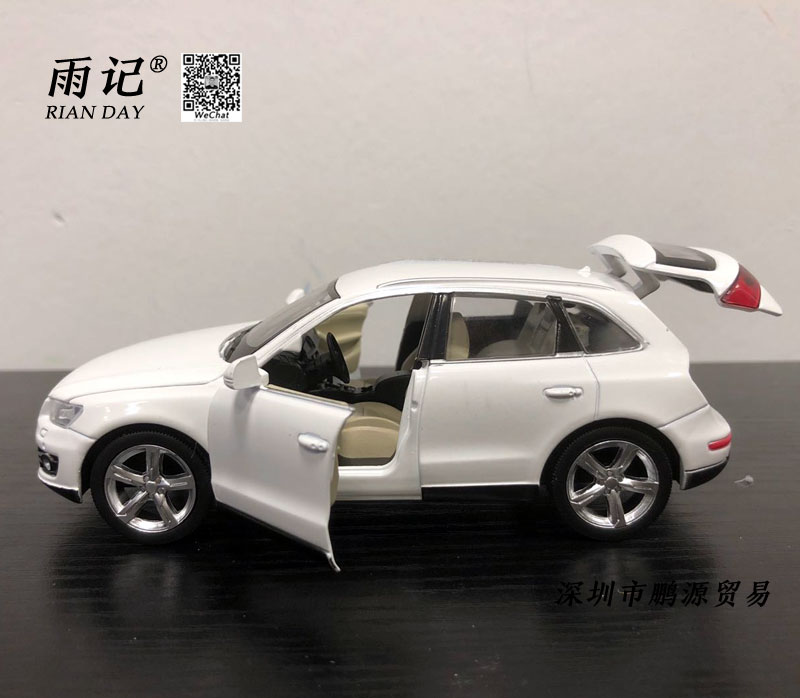 RIAN DAY 1/32 Scale Sound&Light Car Model Toys Germany Audi Q5 SUV Diecast Metal Pull Back Car Toy For Gift/Kids