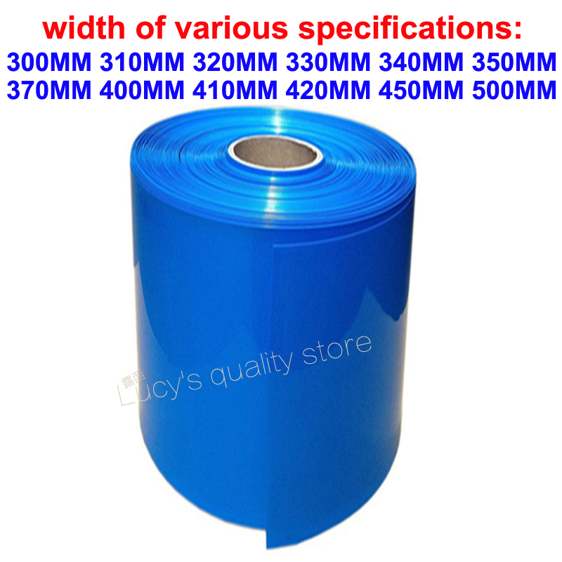 1M Lithium Battery Polymer Battery PVC Heat Shrink Tubing Battery Skin Heat Shrink Film Battery Packing Insulation Film