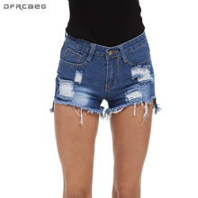 4XL 5XL Big Size Denim Shorts Women 2018 Fashion Summer New Arrivals Holes Ripped Jeans Shorts High Waist Short Jean Femme Loose