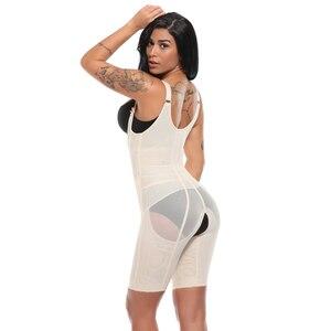 Image 5 - Modelador de corpo inteiro feminino cintura cincher underbust espartilho cintura ajustável trainer firm bodysuits pós parto shapewear mais tamanho