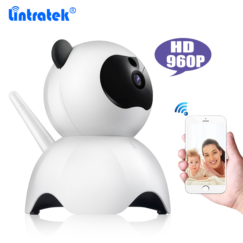 Lintratek Lovely Panda 960P IP Camera Indoor Home CCTV Security Camera Baby Monitor Night Vision 2 Way Audio P2P Remote Control 2017 new gift with uv lamp remote control lcd display automatic vacuum cleaner iclebo arte and smart camera baby pet monitor