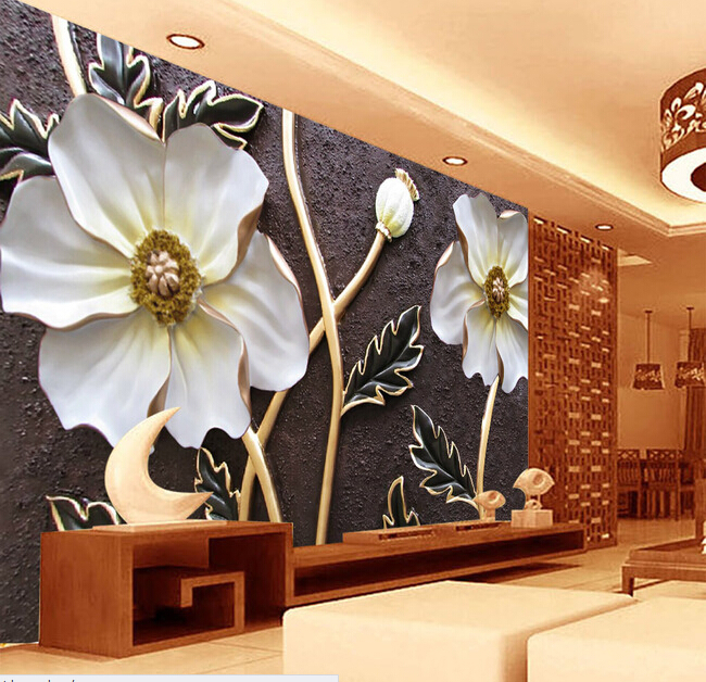 Custom wallpaper for walls 3 d,embossed flower murals for the bedroom living room TV wall waterproof vinyl papel DE parede custom wallpaper for walls 3 d ancient rome statue to the sitting room the bedroom tv setting wall waterproof pvc wallpaper