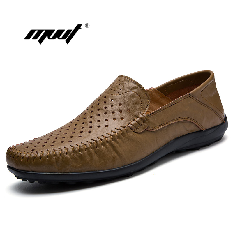 Men Loafers Summer Mesh Men's Casual Shoes Fashion Genuine Leather Slip On boat Driving Shoes Moccasins Out Men Flats shoes klywoo breathable men s casual leather boat shoes slip on penny loafers moccasin fashion casual shoes mens loafer driving shoes