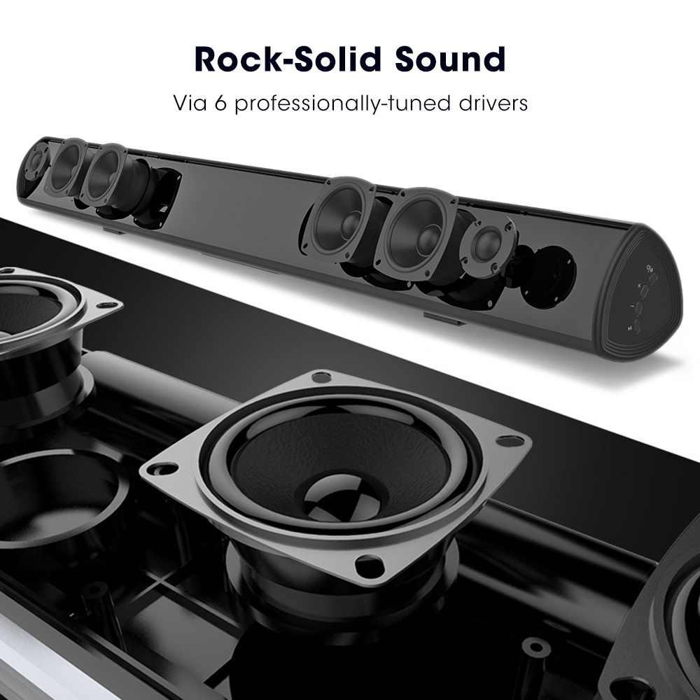 100 واط المسرح المنزلي نظام الصوت 2.0 ساوند بار تلفزيون سمّاعات بلوتوث دعم بصري AUX شريط الصوت مع مضخم للصوت للتلفزيون