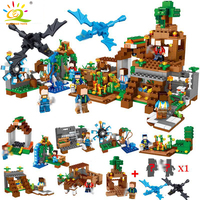 771pcs 8in1 Minecrafted Manor Estate House My World model Building Blocks Bricks set Compatible Legoed city boy toy for children