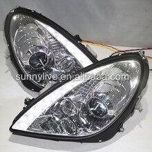Для Mercedes-Benz SLK R171 SLK200 SLK350 SLK500 светодиодный головной светильник 2003-2008 год Хромированный Цвет DB