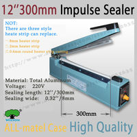 Good Quality All Matel 12 300mm Sealing Length And 8mm Wide Sealing Heat Sealer Machine Heat
