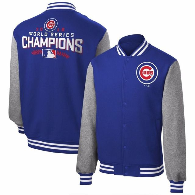 Chicago Cubs 2016 World Series Champions Mens Casual Loose Long Sleeve Sweatshirt Tops