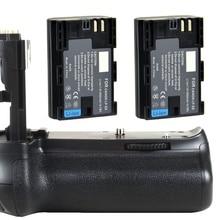 JINTU вертикальный батарейный блок держатель для Canon EOS 70D 80D+ 2 шт LP-E6 комплект аккумуляторов DSLR камера Замена BG-E14
