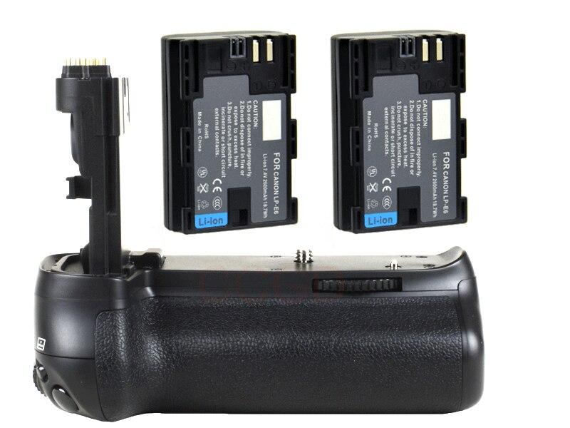 JINTU Poignée De Batterie Verticale support Pack pour Canon EOS 70D 80D + 2 pcs LP-E6 batteries kit DSLR Caméra remplacement BG-E14