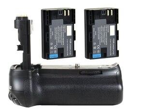 Image 1 - JINTU prise de batterie puissance pour Canon EOS 70D 80D DSLR appareil photo + 2 pièces Recharge LP E6 kit de batterie BG E14 de remplacement