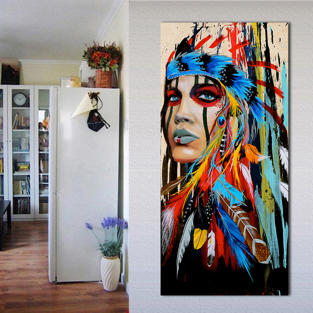 Jqhyart portrait canvas art wall pictures for living room - Wall pictures for living room india ...