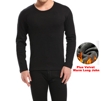 Hot Winter Mens Warm Thermal Underwear Mens Long Johns Sexy Black Thermal Underwear Sets Thick Plus