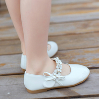 New Kids Baby Toddler Flower Children Wedding Party Dress Princess PU Leather Shoes For Girls School