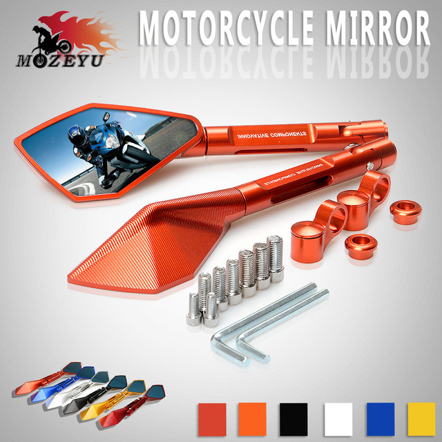 CNC Aluminum Mirror Accessories Motorcycle Side Rearview Mirrors For KTM 390 690 SMC 950 200 125 1290 990 Super Duke R SMT SMR