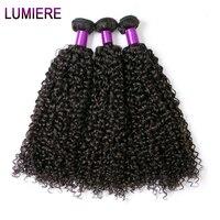 לומייר שיער מלזי קינקי שיער מתולתל 100% שיער אדם Weave חבילות 10