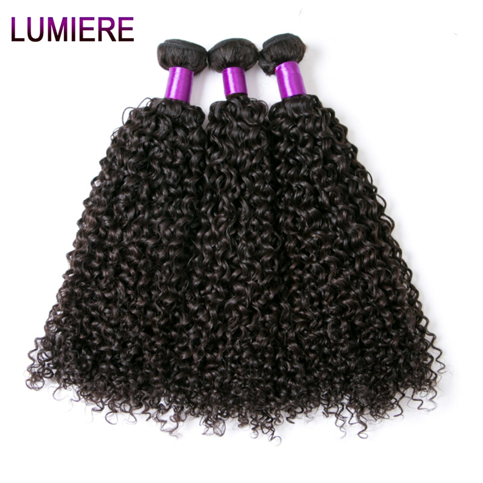 Afro Kinky Curly Hair Malaysian Curly Hair Bundles Lumiere Hair Malaysian Kinky Curly 3 Bundles Deal 100% Human Hair Bundles