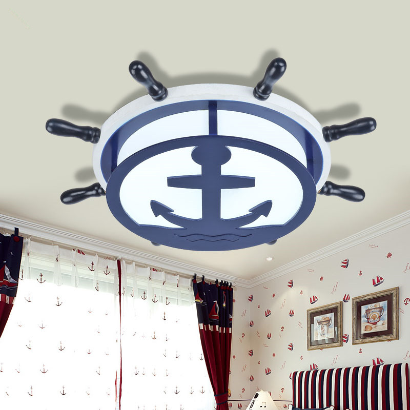 The new Mediterranean rudder LED children children bedroom light contracted and contemporary absorb dome light lamp good friend pip and posy the new friend