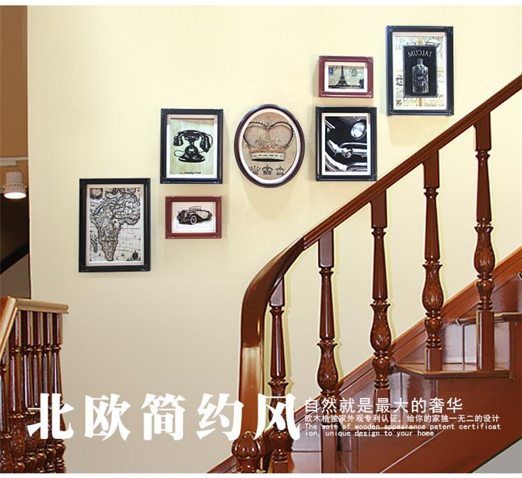 Pared Vintage Photo Frames Family Picture foto del colgante de pared ...