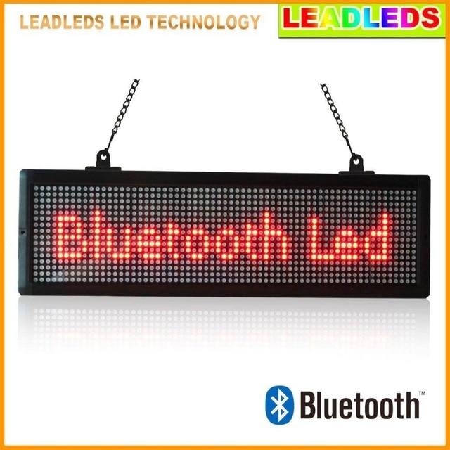 20.7X6.3 дюймов внутренний Светодиодный дисплей Bluetooth Программируемый Прокрутка Сообщение вывеска для Бизнеса и Магазин-Красный Сообщение