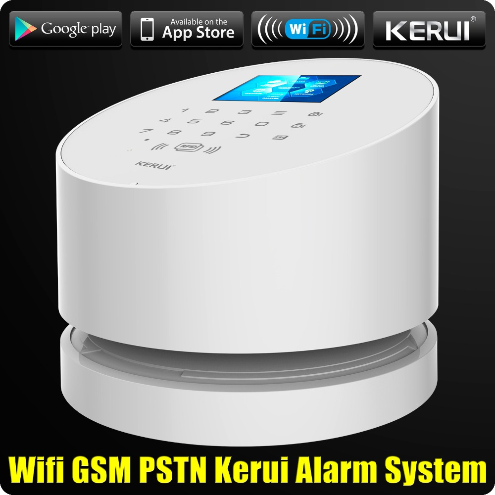 KERUI W2 WiFi GSM PSTN with RFID Home Alarm Security System  Wifi Alarm TFT color LCD Display ISO Android App Control Rfid Card 1